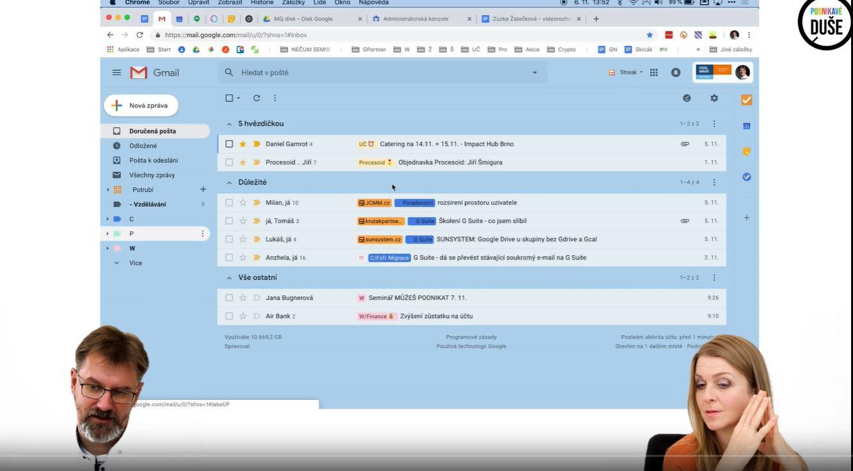 Email - praktický tutoriál použití Gmailu s Pavlem Minářem