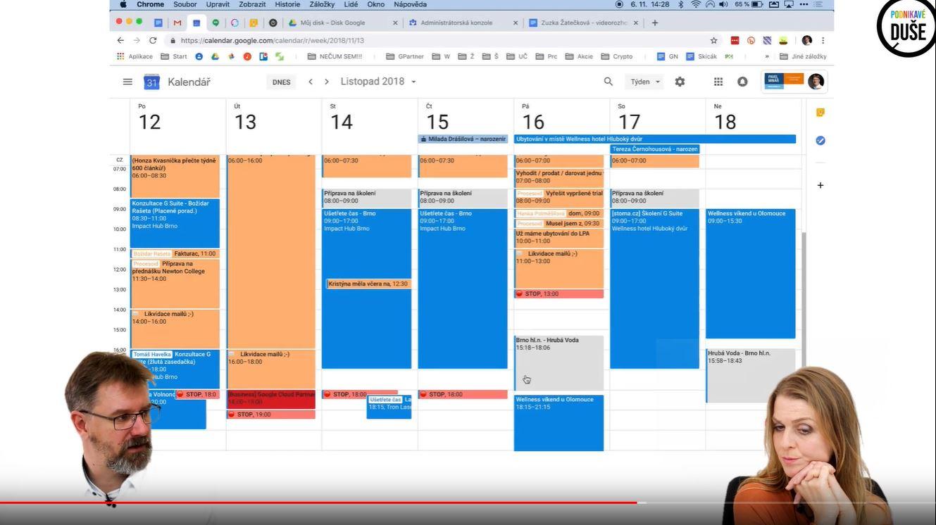 Kalendář - praktický tutoriál použití google kalendáře s Pavlem Minářem