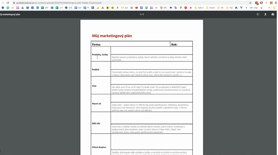 Tvorba marketingového plánu